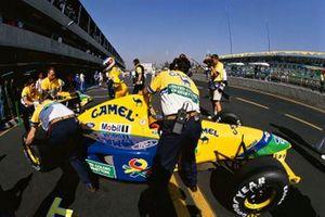 Michael Schumacher, Benetton B191B-Ford, al GP del Messico del 1992