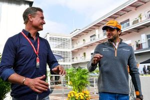 Carlos Sainz Jr., McLaren with Presenter David Coulthard