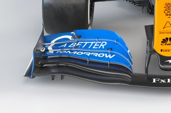 McLaren MCL35 front wing detail
