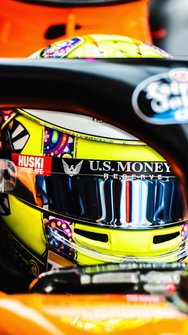 Il casco di Lando Norris, McLaren