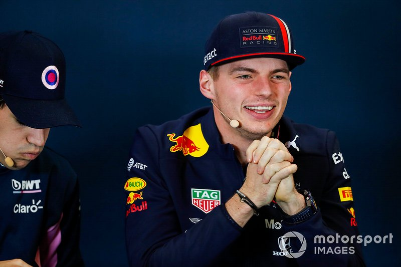 Press conference, Max Verstappen, Red Bull Racing