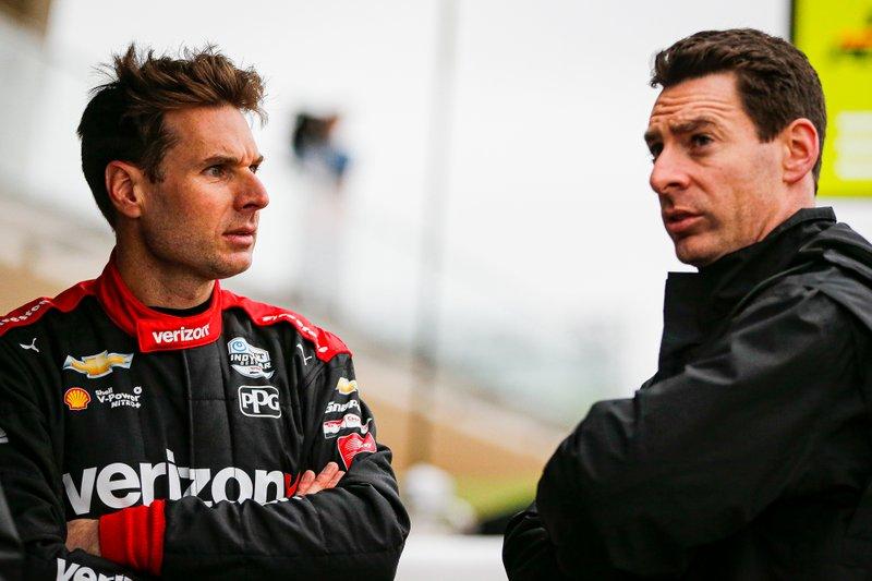 Гонщики Team Penske Chevrolet Уилл Пауэр и Симон Пажено