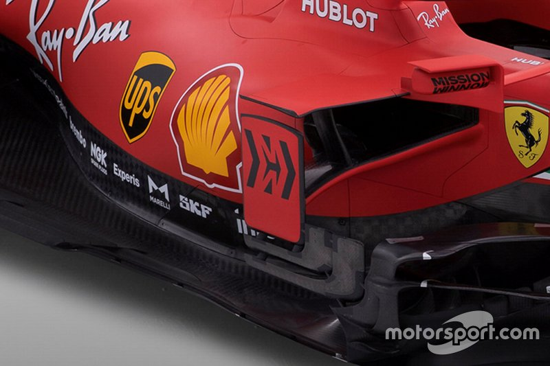 Detalle lateral del Ferrari SF1000