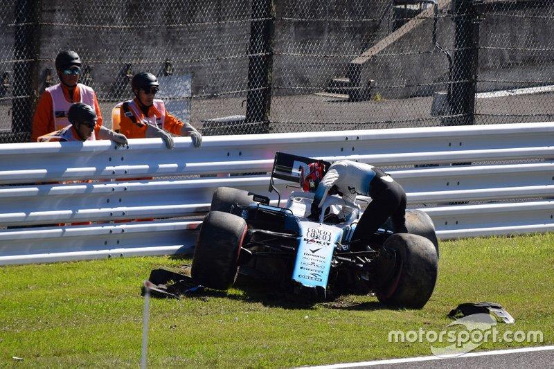 Coche de Robert Kubica, Williams FW42 accidentado