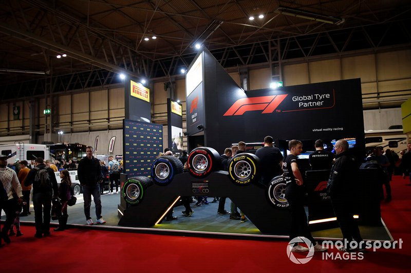 A general view of the Pirelli stand