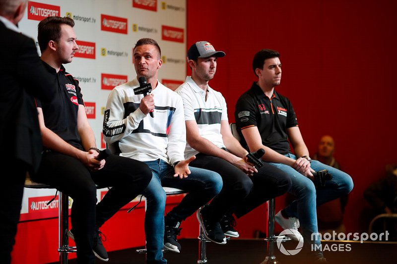 BTCC drivers Tom Ingram, Colin Turkington, Andrew Jordan and Dan Cammish are interviewd on the Autosport stage