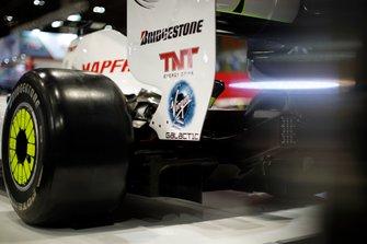 Detalle trasero del Brawn BGP001 de Jenson Buttons