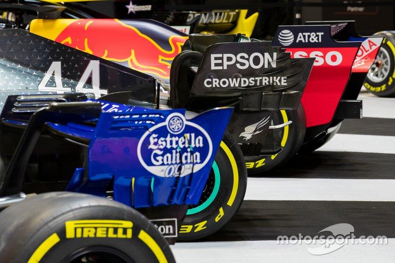 Alas traseras de los coches de F1