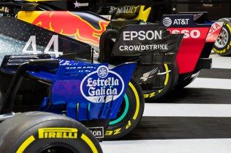 Dettaglio dell'ala posteriore delle monoposto di F1