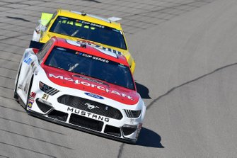 Matt DiBenedetto, Wood Brothers Racing, Ford Mustang Motorcraft/Quick Lane, Ryan Blaney, Team Penske, Ford Mustang Menards/Pennzoil