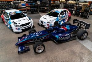 Aaron Cameron, GRM Peugeot, Michael Caruso, GRM Renault and James Golding, GRM S5000