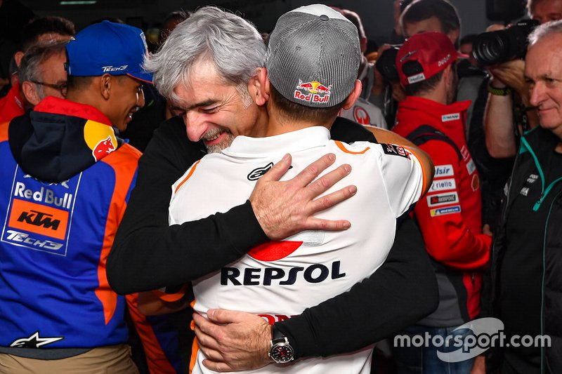 Jorge Lorenzo with Luigi Dall'Igna, Ducati Corse General Manager