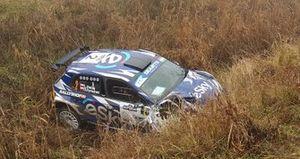 Авария: Лукаш Хабай и Даниэль Дымурский, Sports Racing Technologies, Skoda Fabia R5