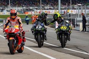 Marc Marquez, Repsol Honda Team, Maverick Vinales, Yamaha Factory Racing, Valentino Rossi, Yamaha Factory Racing