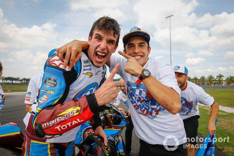 Moto2-Weltmeister 2019: Alex Marquez, Marc VDS Racing, mit Marc Marquez