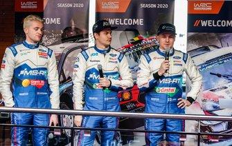 Gus Greensmith, M-Sport Ford WRT, Teemu Suninen, M-Sport Ford WRT, Esapekka Lappi, M-Sport Ford WRT
