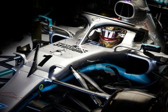 Lewis Hamilton, Mercedes AMG F1 W10, in his Number 1 marked car used for FP1
