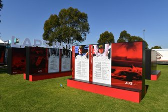 A display showing the history of Formula One