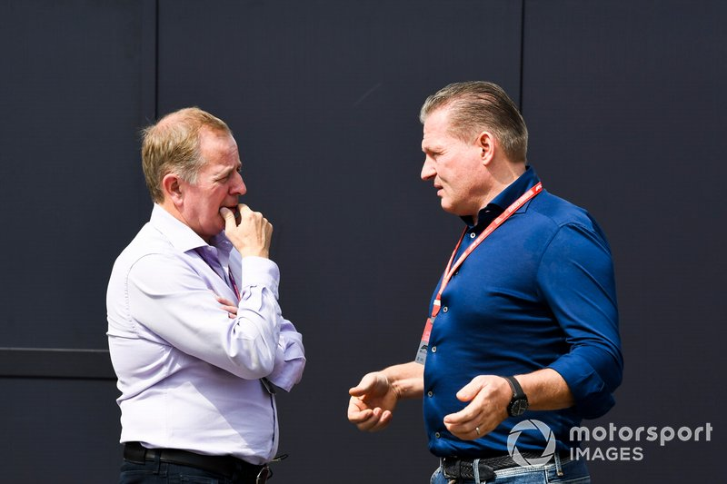 Martin Brundle, Sky TV and Jos Verstappen