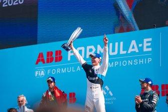 Race winner Maximilian Günther, BMW I Andretti Motorsports celebrates on the podium