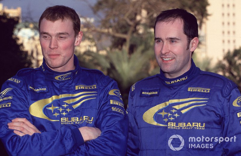 Richard Burns and co-driver portrait