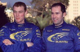 Richard Burns e il suo co-pilota al Rally Monte Carlo del 2000