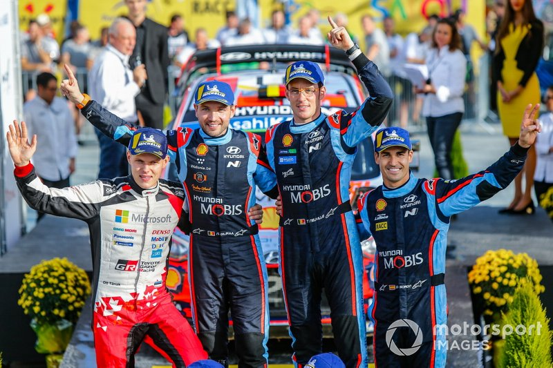 Thierry Neuville, Nicolas Gilsoul, Hyundai Motorsport Hyundai i20 Coupe WRC, Ott Tänak, Toyota Gazoo Racing, Dani Sordo, Hyundai Motorsport