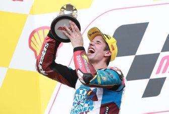 Podium: second place Alex Marquez, Marc VDS Racing