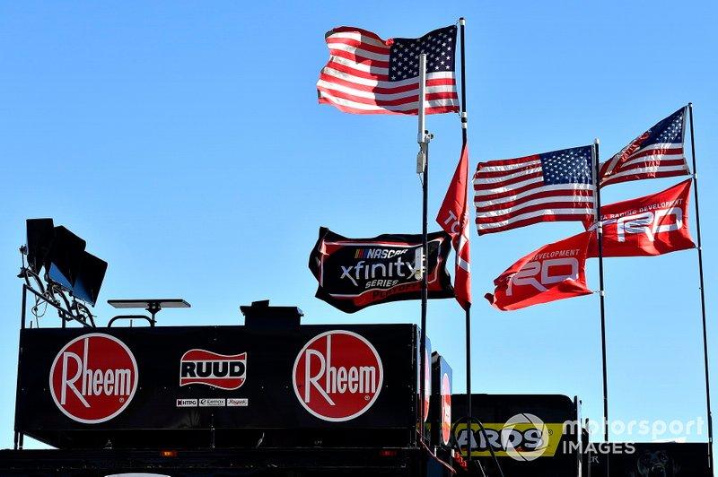 Christopher Bell, Joe Gibbs Racing, Toyota Supra Rheem flags
