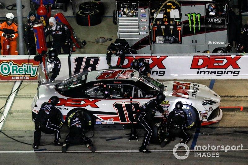 Harrison Burton, Joe Gibbs Racing, Toyota Supra Dex Imaging, pit stop