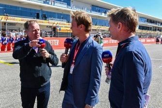 Martin Brundle, Nico Rosberg and Simon Lazenby