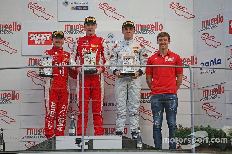Podio Rookie: Frederik Vesti, Prema Powerteam, Enzo Fittipaldi, Prema Powerteam, Matteo Nannini, Corbetta Racing