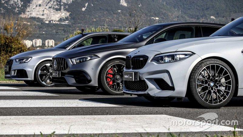 'Drag race': Mercedes-AMG A45 vs. BMW M2 Competition y Audi RS3
