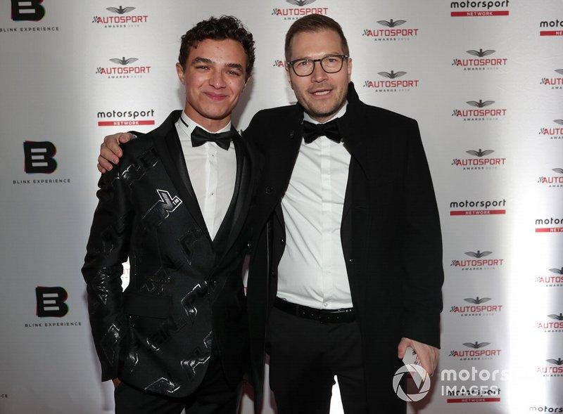 Lando Norris e Andreas Seidl, Team Principal, McLaren