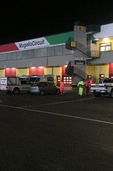 Asistencia en el Circuito Mugello, por Protección Civil