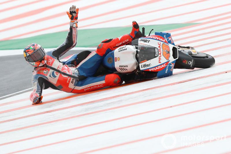 Caída de Jack Miller, Pramac Racing