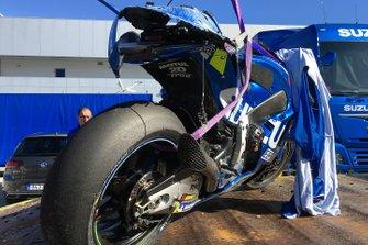 Bike of Joan Mir, Team Suzuki MotoGP after his crash