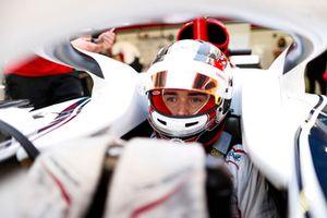 Charles Leclerc, Sauber, dans son cockpit