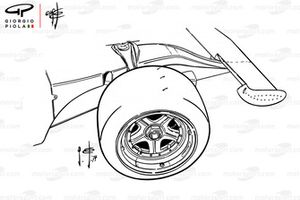Ferrari 312B3 1974 front wheel and wing