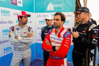 Lucas di Grassi, Audi Sport ABT Schaeffler, Jérôme d'Ambrosio, Mahindra Racing, Mitch Evans, Jaguar Racing, Andre Lotterer, DS TECHEETAH, after Qualifying