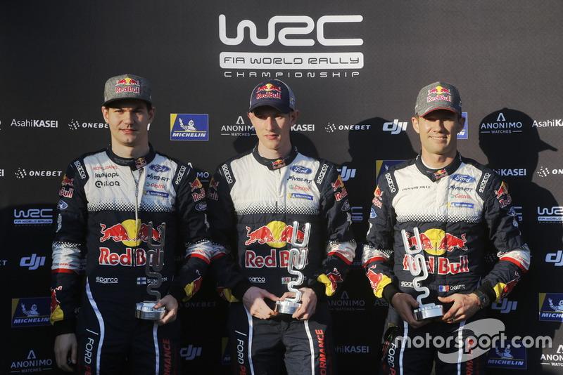 Teemu Suninen, M-Sport Ford WRT, Elfyn Evans, M-Sport Ford WRT, Sébastien Ogier, M-Sport Ford WRT