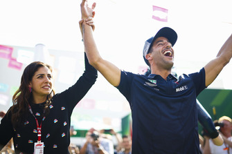Daniel Ricciardo, Red Bull Racing, wins a competition