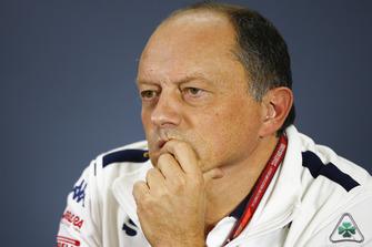 Frederic Vasseur, director del equipo, Alfa Romeo Sauber F1 Team, en la conferencia de prensa de los directores de equipo