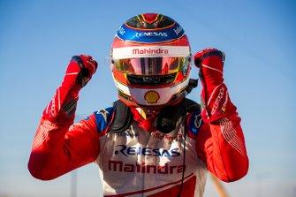 Jérôme d'Ambrosio, Mahindra Racing, celebrates victory