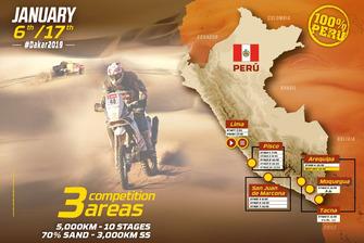 La carte du Dakar 2019