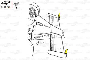 McLaren M23 winklepicker nose