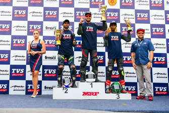 TVS podium celebrations