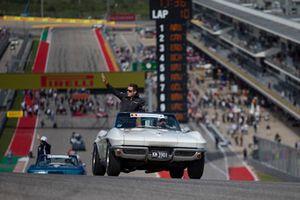 Stoffel Vandoorne, McLaren tijdens de rijdersparade