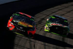 Martin Truex Jr., Furniture Row Racing, Toyota Camry Bass Pro Shops/5-hour ENERGY and Chase Elliott, Hendrick Motorsports, Chevrolet Camaro Mountain Dew