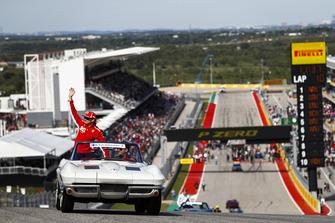 Kimi Raikkonen, Ferrari,en el desfile de pilotos